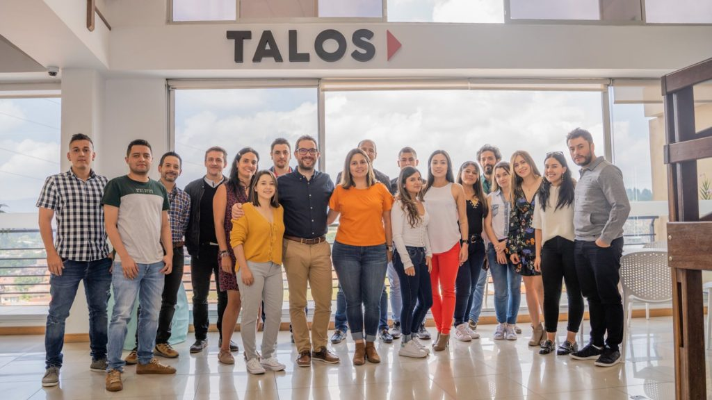 The Team at the Talos Digital office in Rionegro, Colombia.